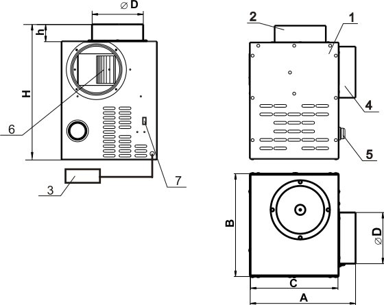 Схема вентилятора Вентс КАМ