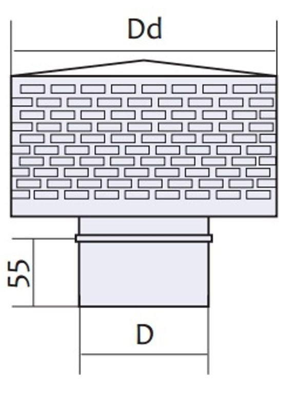 Схема искрогасителя с нержавеющей стали Версия Люкс