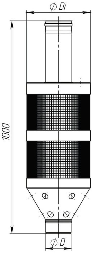 Схема трубы под камни с нержавеющей стали Версия Люкс
