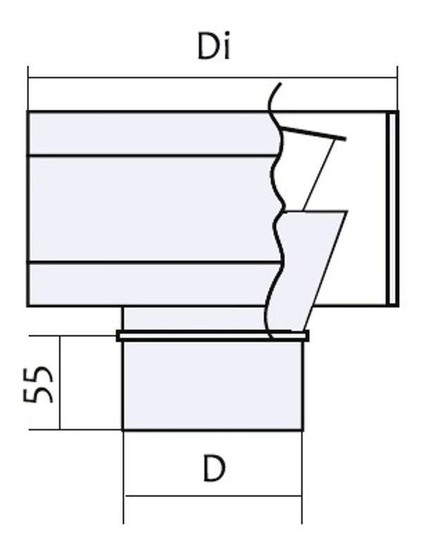 Схема дефлектора с нержавеющей стали Версия Люкс