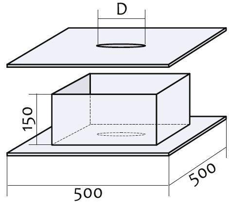 Схема прохода через перекрытие с нержавеющей стали Версия Люкс