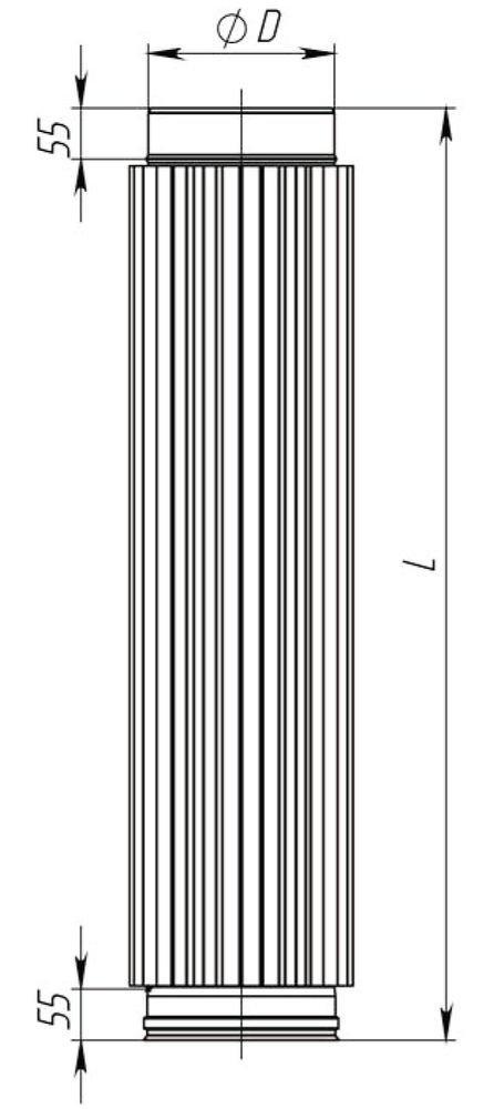 Схема трубы-радиатора с нержавеющей стали Версия Люкс