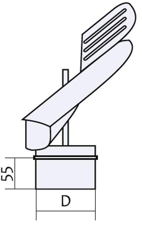 Схема флюгера с нержавеющей стали Версия Люкс