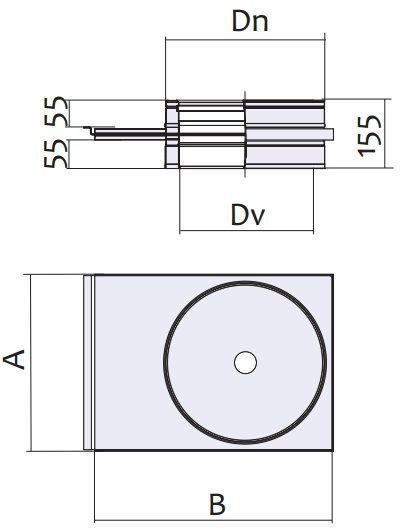 Схема шибера с нержавеющей стали Версия Люкс