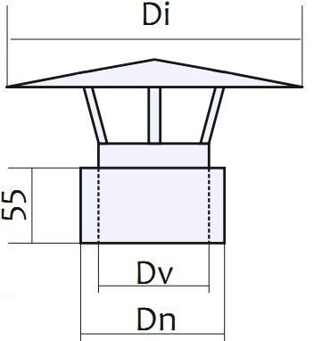 Схема грибка-термо для дымохода Версия Люкс:
