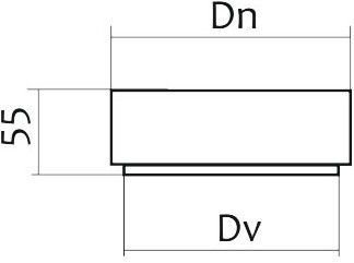 Схема стакана для дымохода Версия Люкс