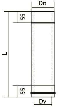 Схема трубы дымоходной нерж/нерж Версия Люкс