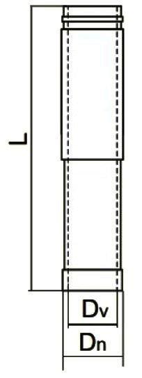 Схема трубы-удлинителя нерж/нерж Версия Люкс