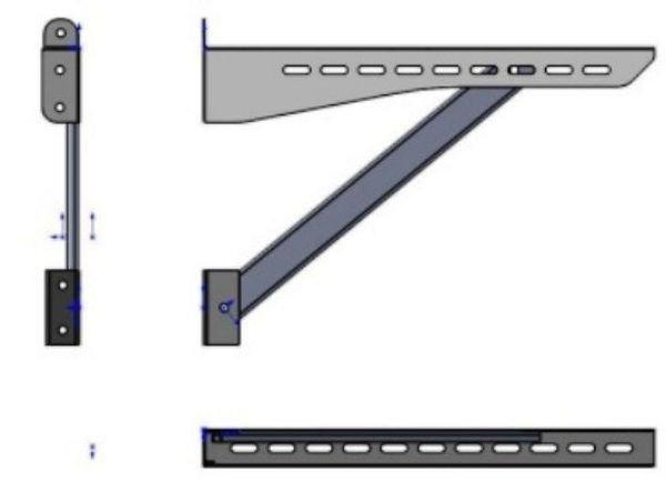 Схема кронштейна дымоходного нержавейка Версия Люкс