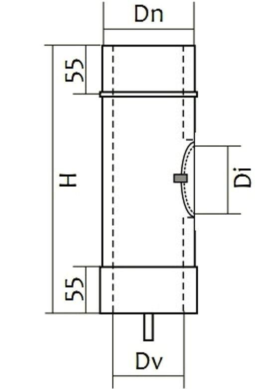 Схема ревизии двустенной для дымохода Версия Люкс