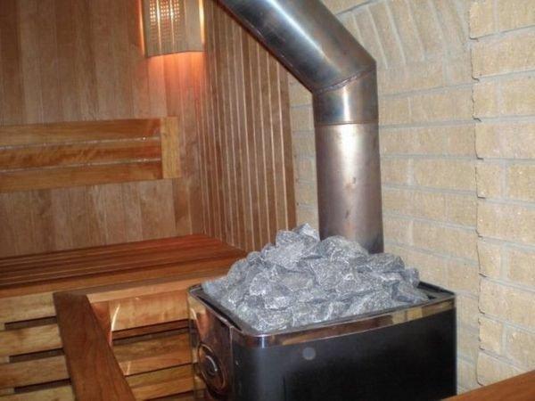 Как установить твердотопливную печь в баню?